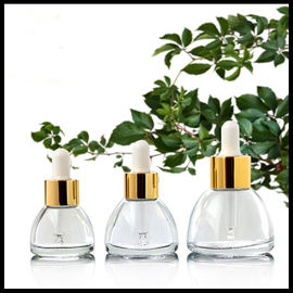 Cina Pagoda Conical Cosmetic Sample Botol Kaca Bahan 15ml / 20ml / 30ml Screw Cap pabrik